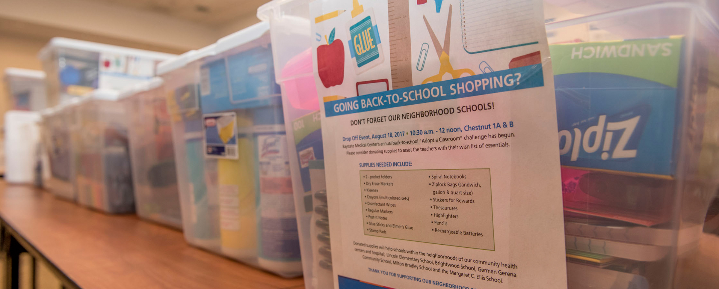 Photo - Boxes of school supplies