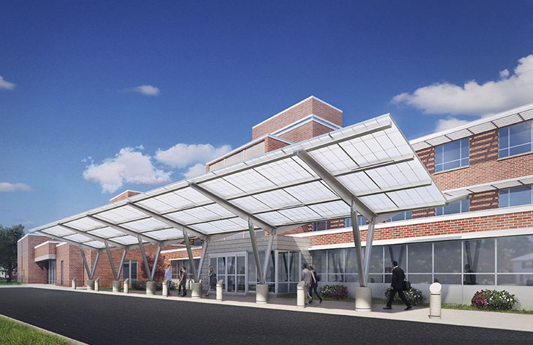 Photo - Architectural Rendering of Baystate Noble Hospital Entrance rennovations