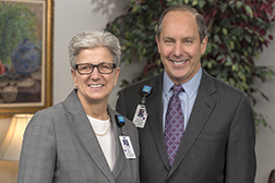 Dr. Mark Keroack President & CEO of Baystate Healht & Anne Paradis, Board Chair, Baystate Health Board of Trustees